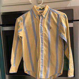 Polo Boys Long Sleeve Button Down Oxford Shirt